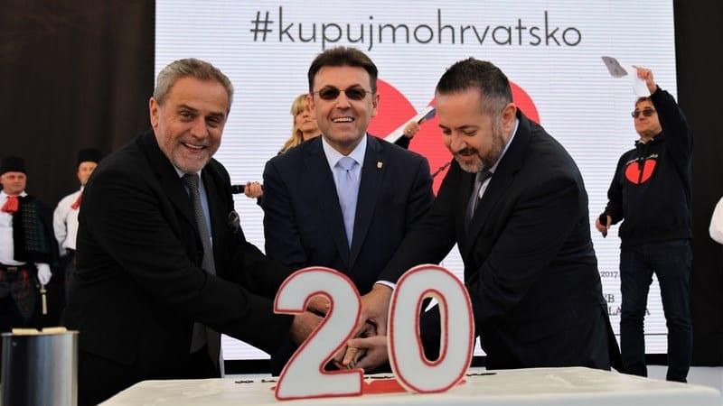 Akcija Kupujmo hrvatsko slavi 20. obljetnicu u Zagrebu