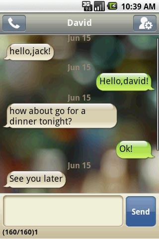 Handcent SMS Conversation Screen shoot