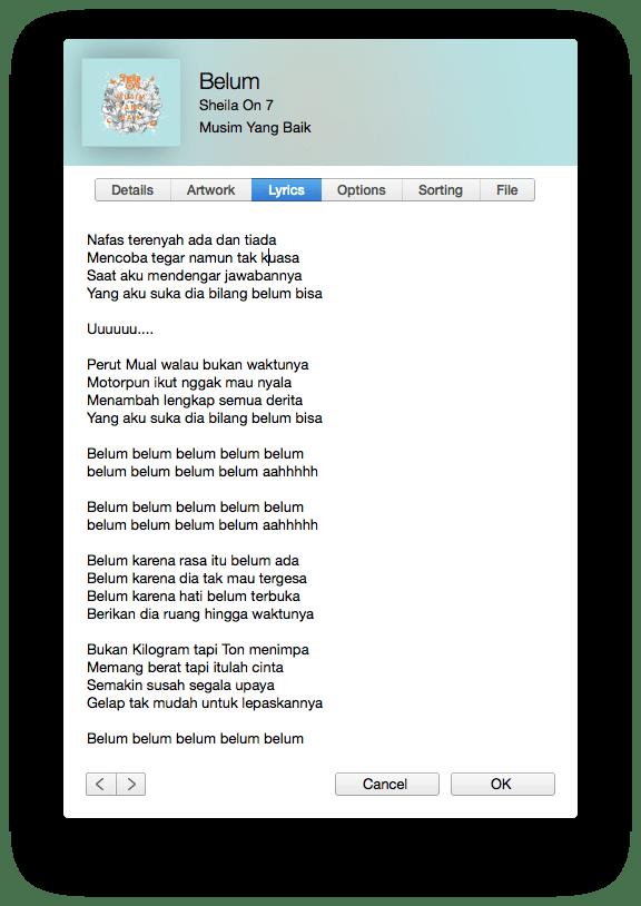 Lagu Belum di Musim Yang Baik Sheila On 7