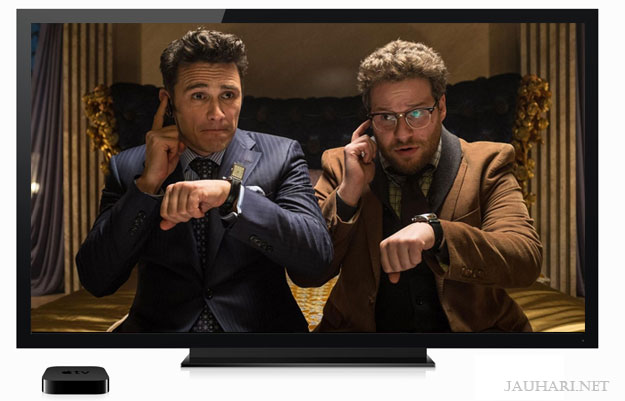 The Interview, Apple TV, iPad, iPhone