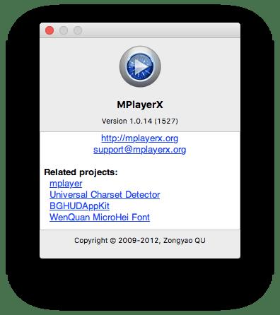 MPlayerX Mac OS X