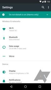 Halaman Utama Setting Android N