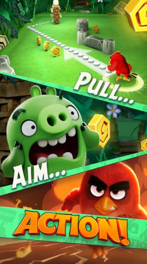 Angry Birds Action! Tarik, Arahkan dan Serbu