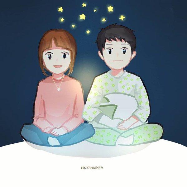 Gambar Kartun Romantis Kapten Yoo Sijin & Dr. Kang Mo Yeon