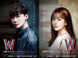 Poster Lee Jong Suk Di K-Drama W