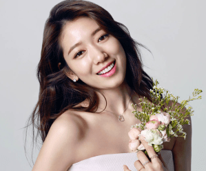 Park Shin Hye Holds a Bucket of Flower