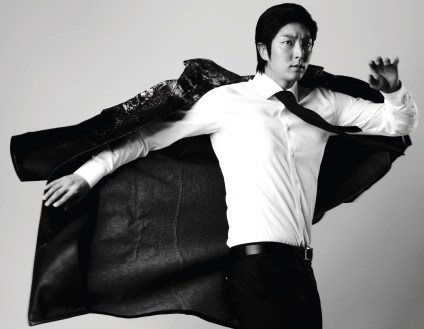 Lee Joon Ki Gives a Pose for a Commercial Photo