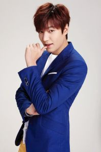 Lee Min Ho in a blue coat