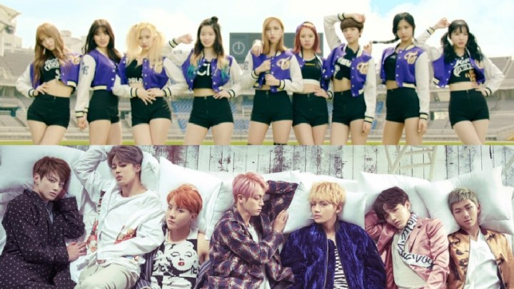 BTS And TWICE On The Top Popularity