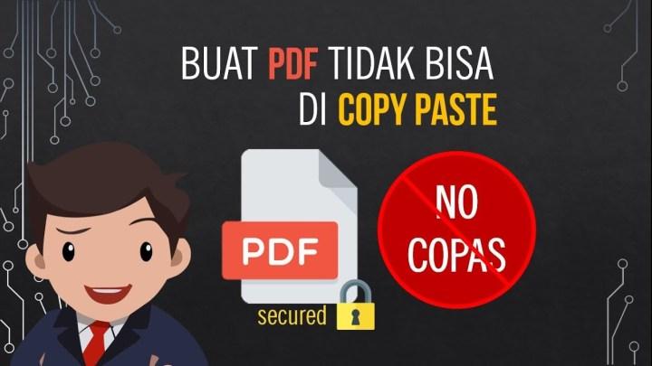 Tips Mudah Mengunci File PDF Agar Tidak Bisa Di Copy
