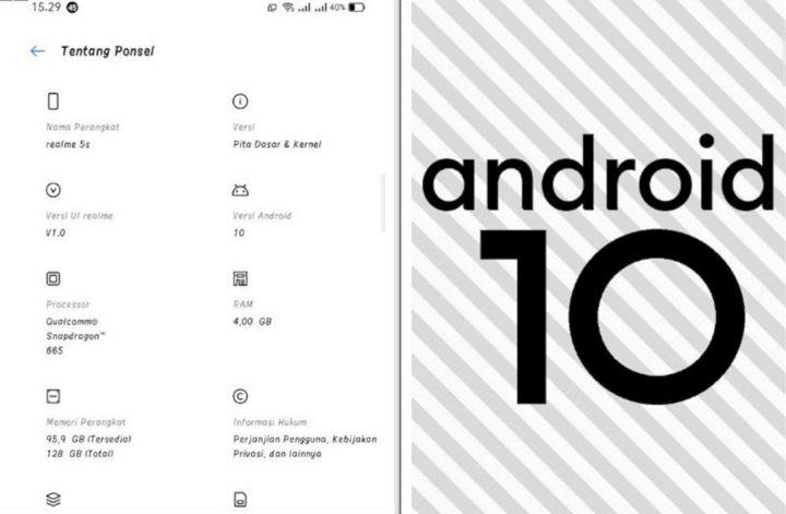 realme 5 Series yang Terima Update Android 10