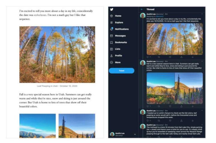 Ubah Postingan WordPress Ke Tweetstorm
