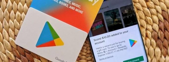 Cara Menggunakan Google Play Gift