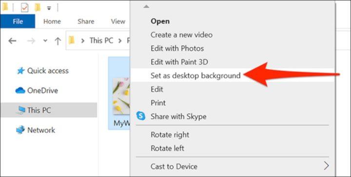 Mengubah Wallpaper Menggunakan File Explorer
