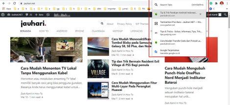 Cara Mudah Mencari Tab Pada Google Chrome
