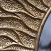 Veidrodis ovalus apvalus auksas 90x150cm