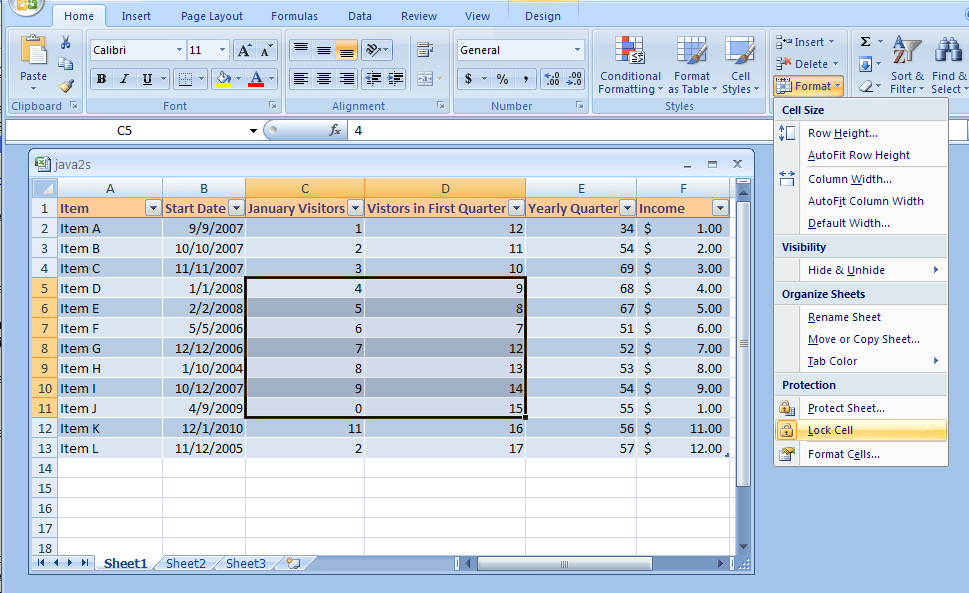 Excel Chapter 7 Home Security