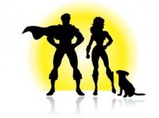 Super heroes together