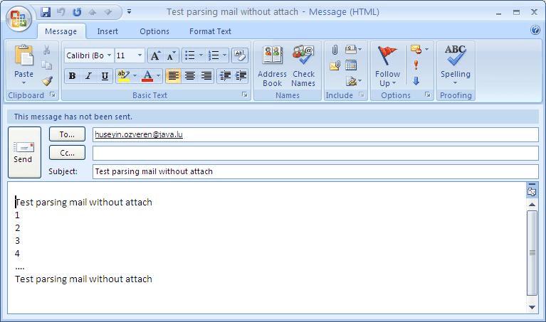 JavaBlog fr / Java lu - Java : Mail : EML : MSG : Example of mail