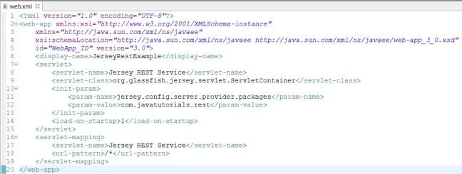 web xml change