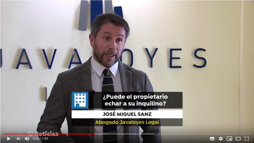 Aparición de Jose Miguel Sanz an Noticias 3, el 22 de febrero