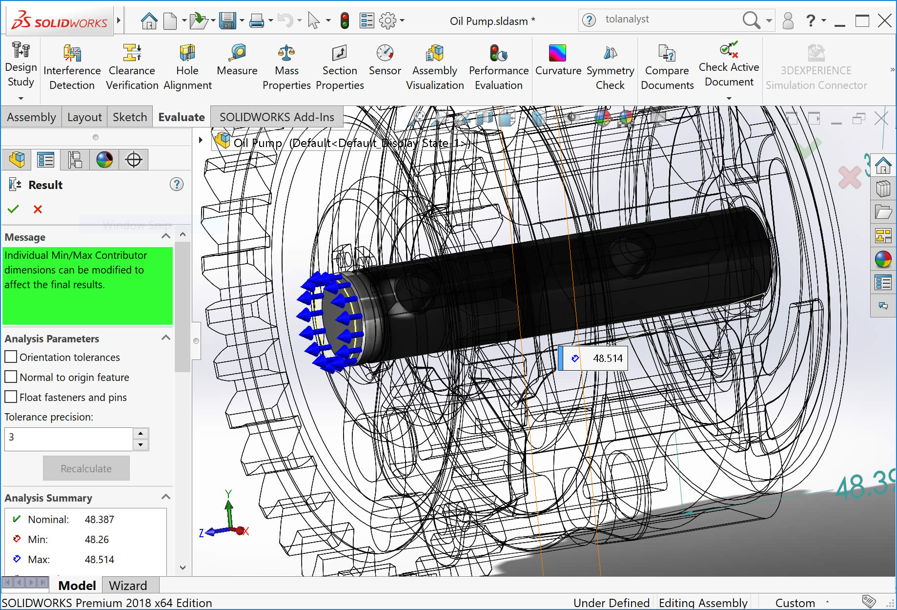 Solidworks Tol Yst Tolerance Stack Upysis And