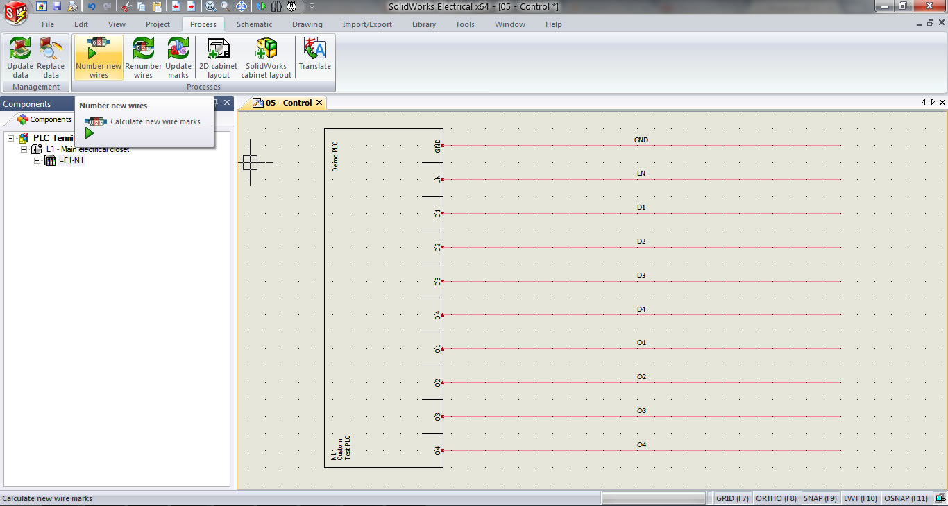 Free Download Wiring Diagram: Plc I O Wire Numbering In Solidworks  Electrical Of Wiring Diagram In