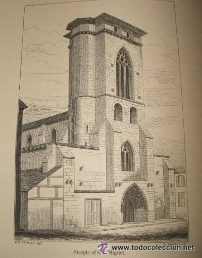 Iglesia de San Miguel en 1865.