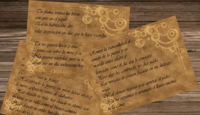 Lágrimas de Escritora. Letra y música compuestas por Javier Adán