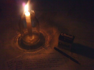 pen paper candle1b