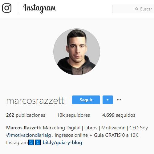 redaccion biografia instagram para alcanzar seguidores
