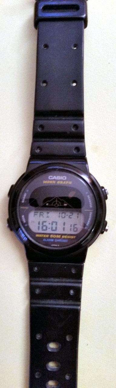 Una bonita historia del Casio GMW-15 (Moon Graph)