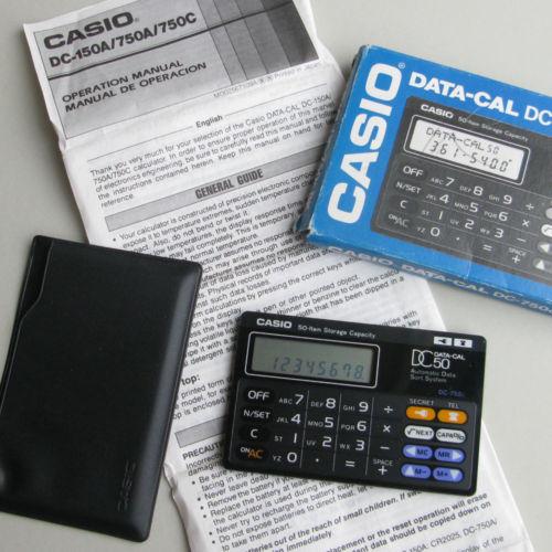 Casio DC-750 Data-Cal
