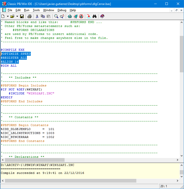 Ejemplo con PB/Forms