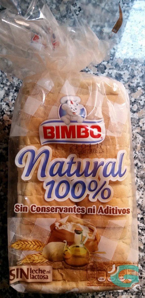 pan bimbo natural integral ingredientes