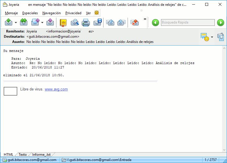 Joyería Iñaki no responde a los emails