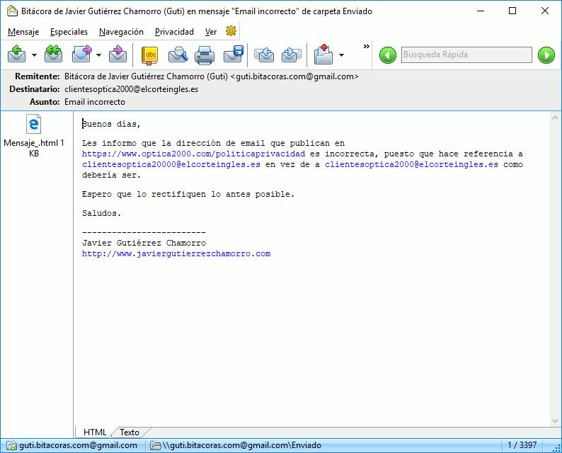 Cuando una empresa no deja actualizar nuestros datos