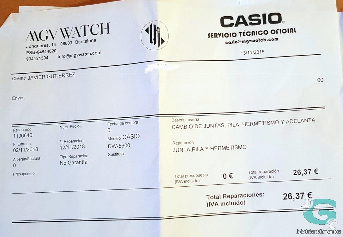 El SAT de Casio (MGV Watch)