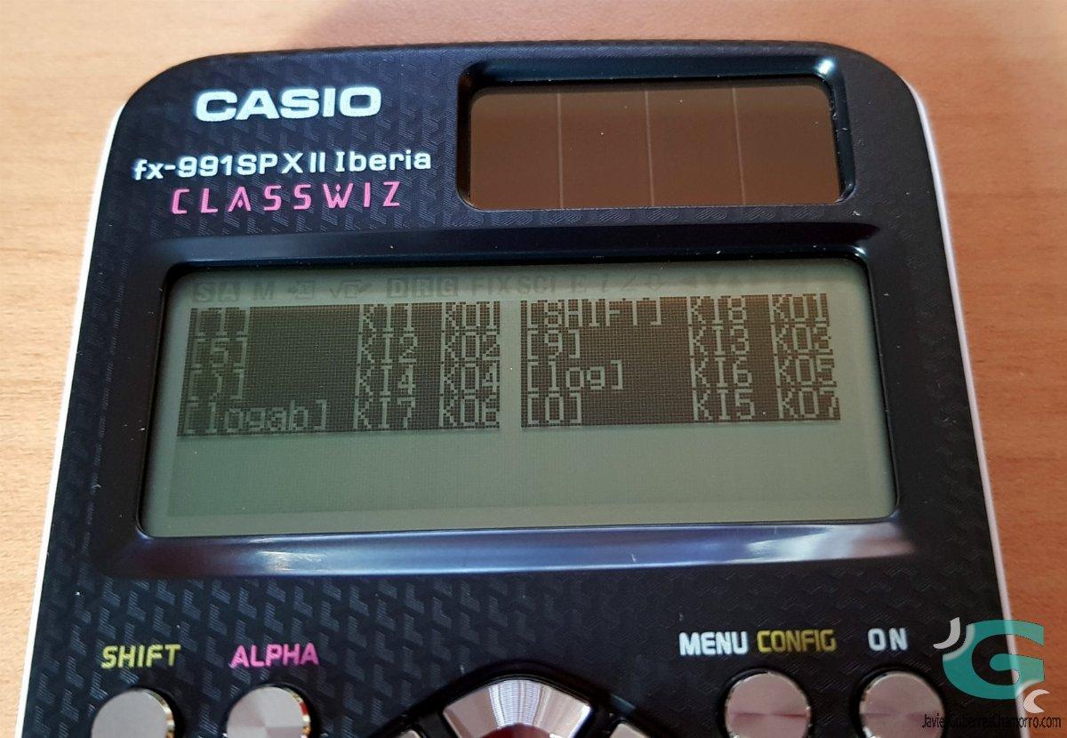 El modo diagnóstico y la Casio fx-991SPX II Iberia