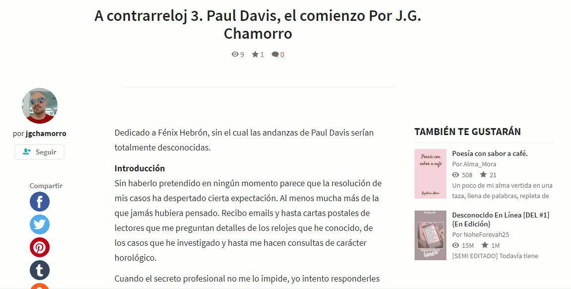 Gracias a vuestras opiniones de A contrarreloj: Paul Davis