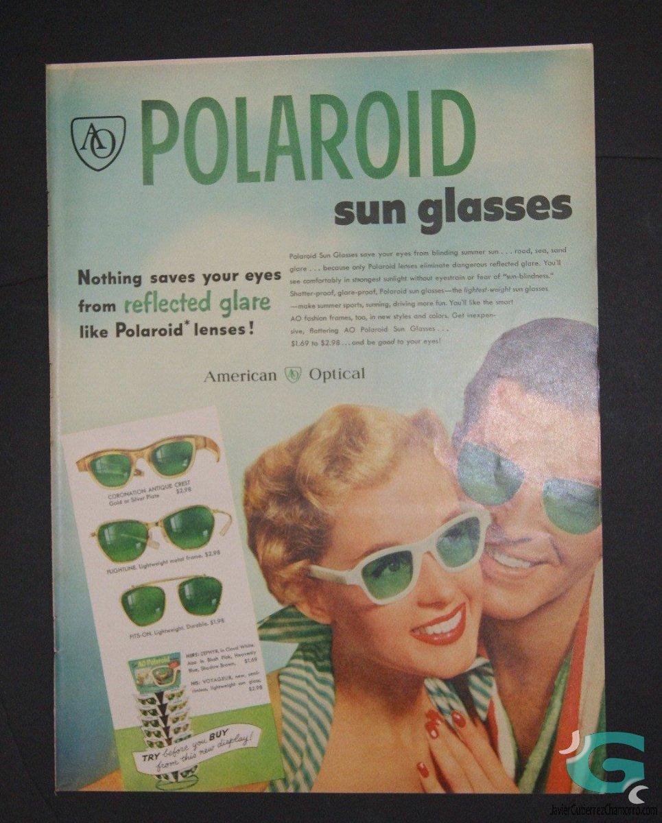Anuncio entre AO y Polaroid - 1953