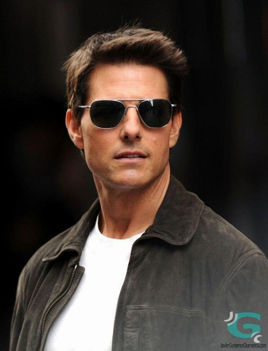 """El actor Tom Cruise llevando unas Randolph Aviator en Barry Seal (""""American Made"""") - 2017"""