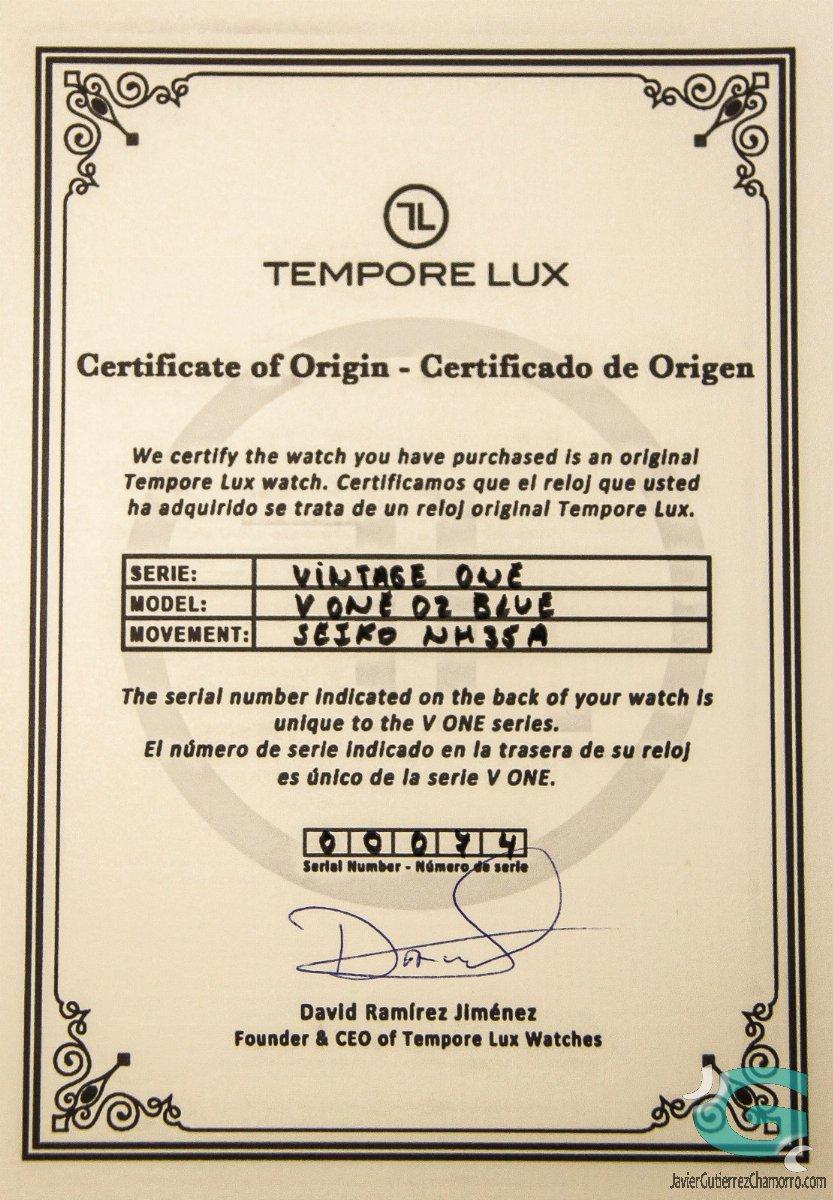 Tempore Lux V One