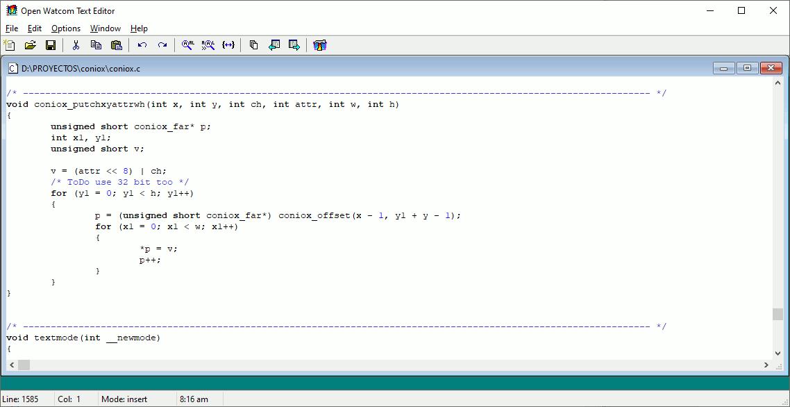 Depurar aplicaciones DOS con Watcom C y OpenWatcom C++