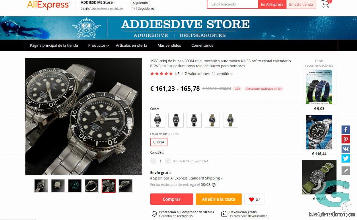 ¿Cuánto cuesta fabricar un reloj en China?
