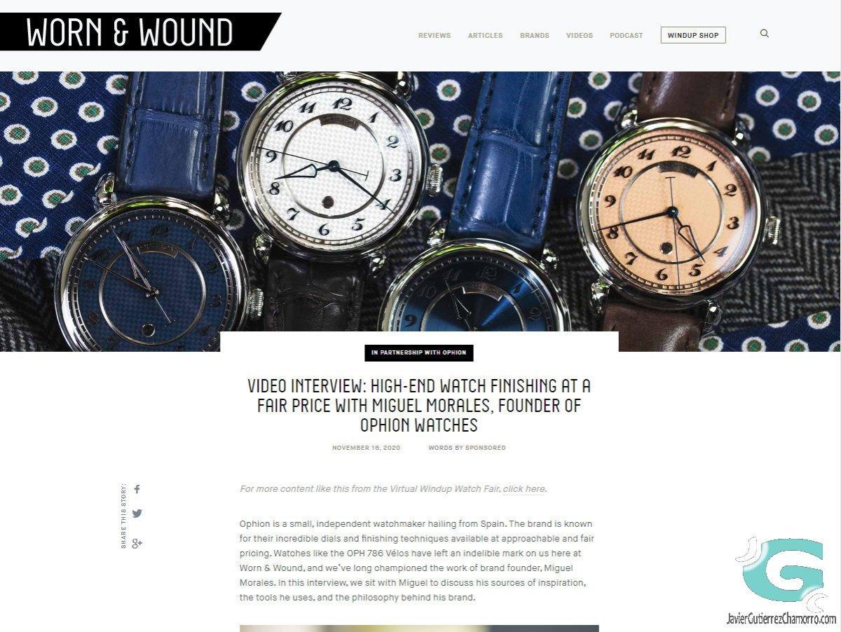 Entrevista a Miguel Morales Ribas fundador de Ophion Watches -Fallida-