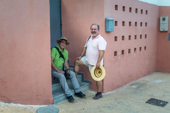 Pablo Julia y José María Mellado en La Chanca