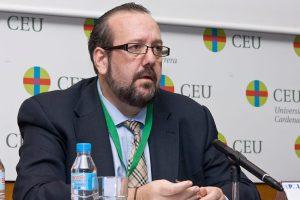 Javier Peris, moderador del evento, durante las Jornadas Anuales sobre Dirección de Proyectos del Capítulo de Valencia del Project Management Institute PMI Valencia
