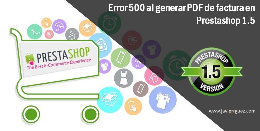 Error 500 al generar pdf de factura en Prestashop