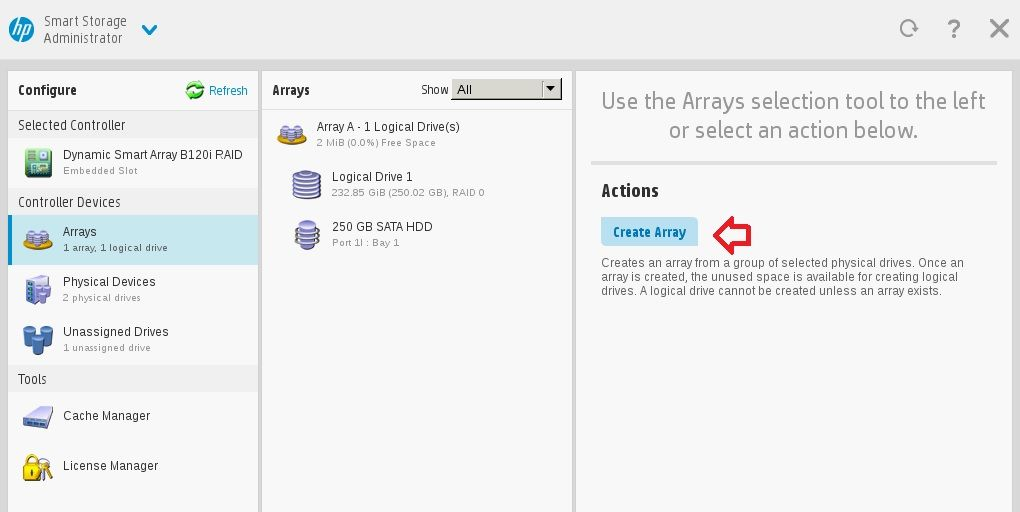 HP Proliant Crear Array 06